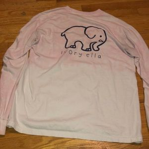 Ivory Ella size M long sleeves ombre colors